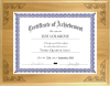 Solid Wood Certificate Plaque with Lasered Corners Achievement Awards