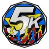 5K Walk/Run Race  Decagon Colored Medallions