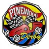 Pinewood Derby  Decagon Colored Medallions
