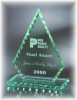 Conquest Jade Glass with Chipped Pearl Edge Economy Glass Awards and Gifts
