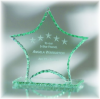 Star Jade Glass with Chipped Pearl Edge Jade Glass Awards