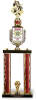 2 Column Classic Mascot on Black Marble Base Mascot Series Trophies