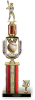 Classic Mascot with column and trim on Black Marble Base Mascot Series Trophies
