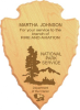 Lasered Alder Arrowhead Plaque National Park Service Plaques