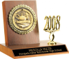 Small Billboard Trophy With Medallion Insert & Year Trim Participation Trophies