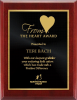 Valurite High Gloss Mahogany Plaque Recognition Plaques