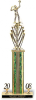 Figure, Riser and Column with 2 trims on Marble Base Valuerite Trophies | Economy Trophies