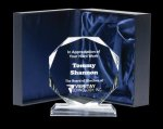 Corporate Crystal Octagon Clear Optical Crystal Awards