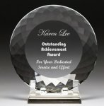 Corporate Crystal Facet Plates Corporate Crystal Awards