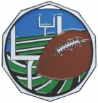 Football  Decagon Colored Medallions