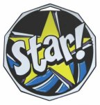 Star  Decagon Colored Medallions