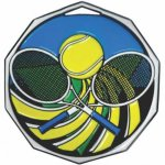 Tennis  Decagon Colored Medallions