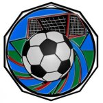Soccer Decagon Colored Medallions