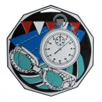 Swimming  Decagon Colored Medallions