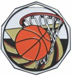 Basketball  Decagon Colored Medallions