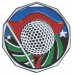 Golf  Decagon Colored Medallions
