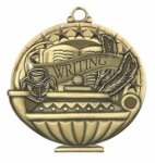Writing Education/Lamp of Knowledge Medallions
