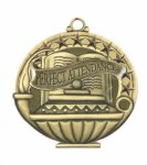 Perfect Attendance  Education/Lamp of Knowledge Medallions
