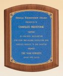 American Walnut Plaque with Linen Textured Plate Employee Awards