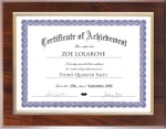 Certificate Plaque with Gold Frame Employee Awards