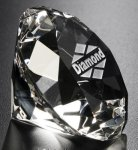 Diamond Paper Weight Executive Gift Awards