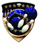 Bowling Full Color Burst Medallions