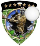 Lacrosse Male  Full Color Burst Medallions