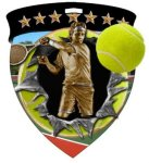 Tennis Male  Full Color Burst Medallions