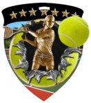 Tennis Female  Full Color Burst Medallions