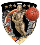 Basketball Female Full Color Burst Medallions