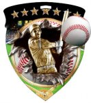 Baseball  Full Color Burst Medallions