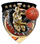 Basketball Male  Full Color Burst Medallions