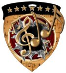 Music  Full Color Burst Medallions