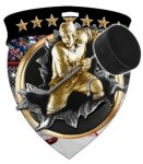 Hockey  Full Color Burst Medallions