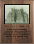 Laser Etched Walnut Plaque With Full Color Photo Full Color Recognition Plaques