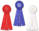 Classic Three Streamer Rosette Award Ribbon Karate Trophy Awards