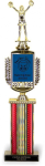 Classic Mascot with column on Black Marble Base Mascot Series Trophies