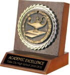 Small Billboard Trophy With Medallion Insert Participation Trophies