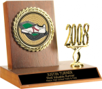 Small Billboard Trophy With Activity Insert & Year Trim Participation Trophies