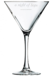 Martini Glass Personalized Drinkware