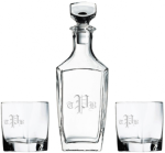 Sterling Decanter Set With 2 Rocks Glasses Personalized Drinkware