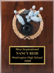Activity Plaque With Sculptured Relief Sports and Academic