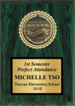 Medallion Insert Plaque Sports and Academic Plaques