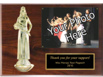 Photo Plaque with Figure Sports and Academic Plaques