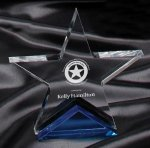 Blue Spectra Star Award Star Acrylic Awards