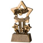Music Star Resin Star Back Resin Trophy Awards