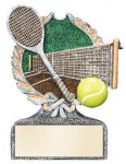 Tennis Multi Color Sport Resin Figure Tennis Trophy Awards