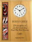 Alder Native Heritage Clock Wall Clocks