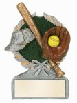 Softball Multi Color Sport Resin Figure Wreath Awards