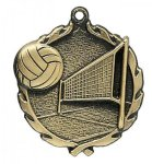 Wreath Volleyball Medals Wreath Medal Awards
